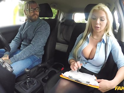 Play Driving School - Big-busted Pretty good Is Cum Hungry On Analyse 1 - Barbie Sins