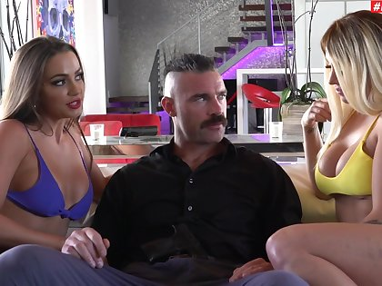One stiff dick is enough to please Abigail Mac added to Madelyn Monroe