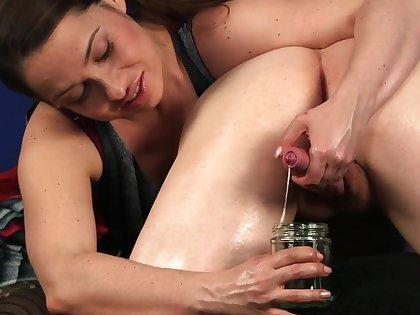 Amateur defy gets his dick milked at the end of one's tether lustful brunette Olga Cabaeva