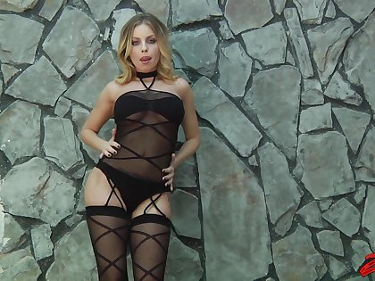 Busty blonde girl Britney Amber gets fucked hard overwrought her man