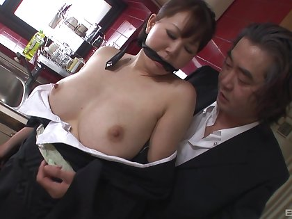 Japanese wife shared for sex and made to pay off