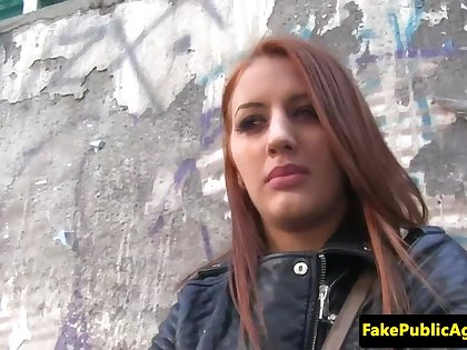 Tricked euro creampied by imposter agent