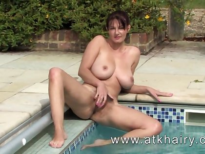 Mature and hairy Vanessa from ATKHairy