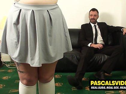 Estella Bathory chubby slut learns the meaning of true pain