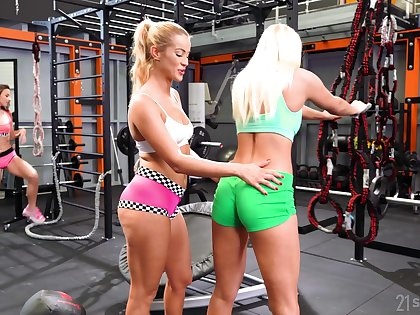 Fit babes are naturally lustful and they love sapphic threesomes