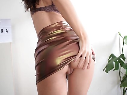 Flawless TEEN Thither MINI Spread out STRIPPIN