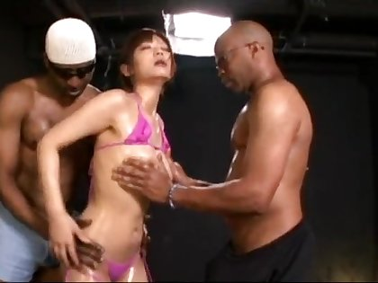 Haruki Sato Japanese Woman Audition Triune Sex Monster Penis 40cm African Person