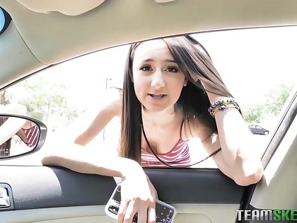 Eliza Ibarra is a sweet teen brunette who likes to give titjobs to will not hear of boyfriend