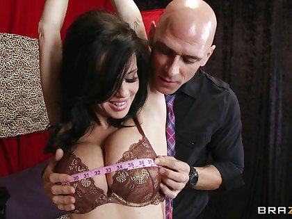 Brunette Veronica Avluv in lingerie makes will not hear of client fuck will not hear of brains out