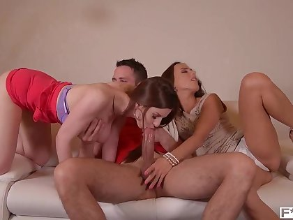 Stella Cox gets her ass fucked hard while Mea Melone licks & rubs her pink