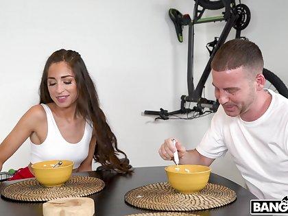 Amazing fucking on the table fro stunning girlfriend Cameron Canela