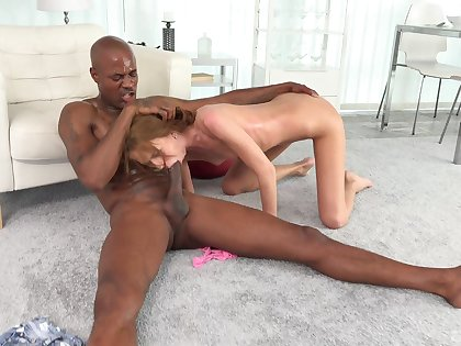 Needy girl throats be transferred to BBC at the putting it in her skinny cunt
