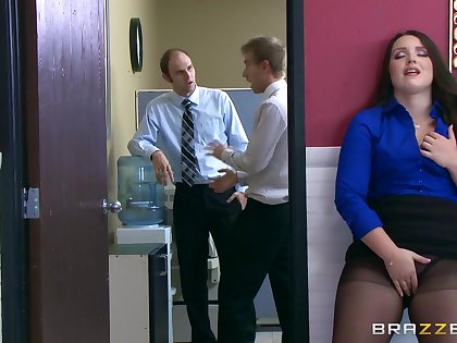 Gagged and at hand fucked by yoke be advisable for chum around with annoy guys from work