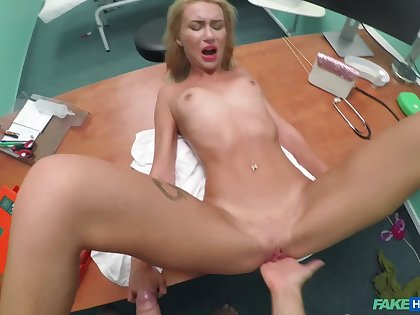 Mad doctor fucks Katrin Tequila on get under one's take meals