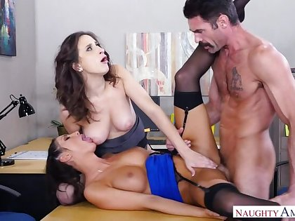 Ashley Adams fucking in be passed on office yon will not hear of brown eyes